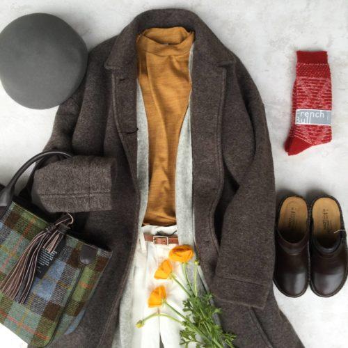 *寒い日にはコートを着ましょう